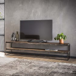 Meuble TV bois brut recyclé métal 180 cm OMSK