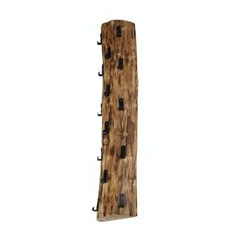 Portemanteau mural vertical bois massif 14 crochets TRIBECA