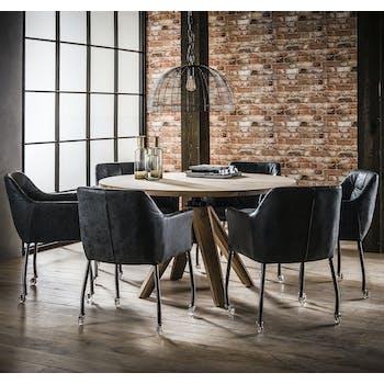 Table à manger ronde réglable en hauteur 135 cm TRIBECA