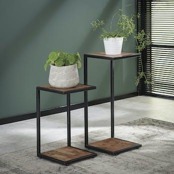 Tables D Appoint Sellettes Bois Metal Meubles De