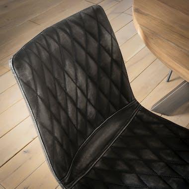 Chaise vintage motif diamant couleur anthracite (lot de 2) MELBOURNE