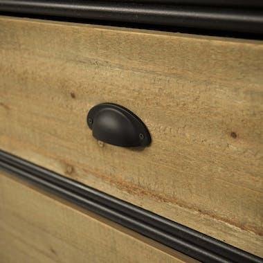 Meuble tv avec rangement bois massif métal laqué NIAGARA