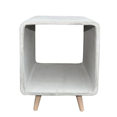 Table de chevet contemporaine cube béton GM