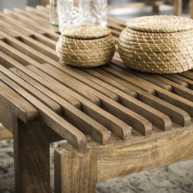 Table basse extensible bois massif de manguier MUNDRA