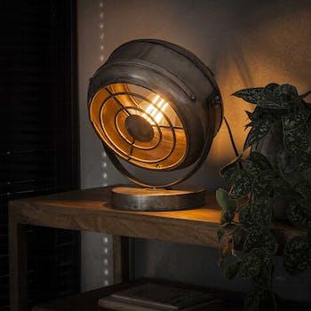 Lampe à poser industrielle forme ronde TRIBECA