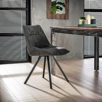 Chaise scandinave gris foncé TRIBECA