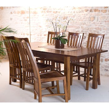 Table repas + allonge 160/200cm LOLA