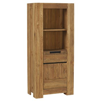 Colonne en bois pin brossé 1 porte SOHO