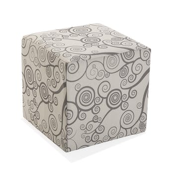 Pouf cube arbre de vie