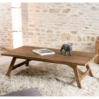 Table basse en Teck recyclé 120x60x36cm SWING