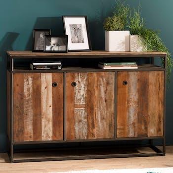 Buffet 3 portes bois recyclé SWING
