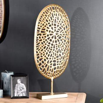 Décoration à poser abstraite dorée ZALA