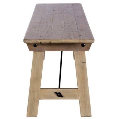 Banc de table bois recyclé clair 186 cm SALERNE