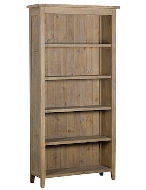 Bibliothèque bois recyclé clair SALERNE