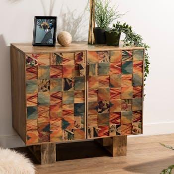 Petit meuble de rangement style ethnique MAURAI
