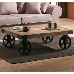 Table basse industrielle roulettes LANDAISE