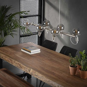 Suspension contemporaine style baladeuse 6 lampes RALF