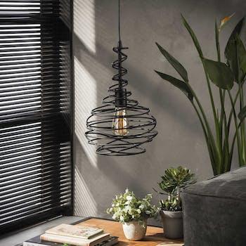 Suspension industrielle forme cône filaire noir RALF