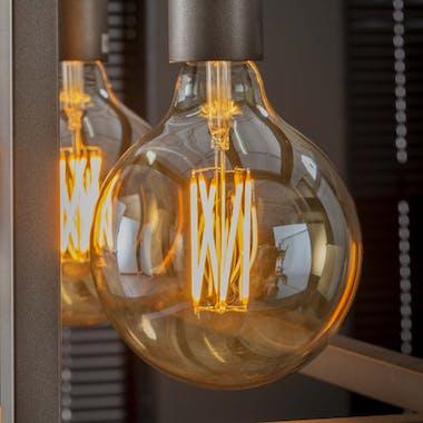 Ampoule globe led ambrée filament lumière chaude 12,5 cm E27