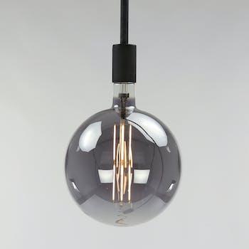 Ampoule globe led gris fumé filament 20 cm E27