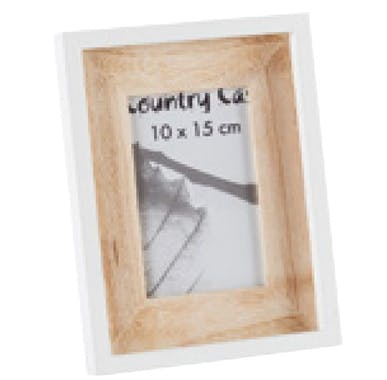 (IMG) Cadre photo blanc et bois