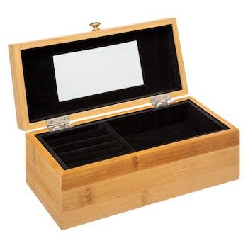 Boîte à bijoux rectangle en bambou