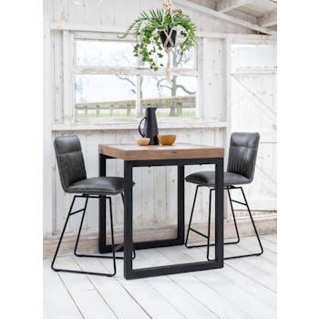 Chaise de bar gris used OKA