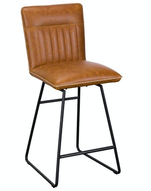 Chaise de bar camel used OKA