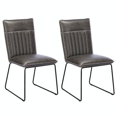 Chaise de salle à manger gris used OKA (lot de 2)