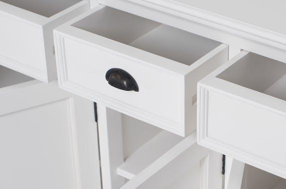 Vaisselier blanc en bois 5 portes ROYAN