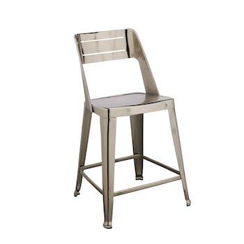 Chaise de bar design chrome (lot de 2)