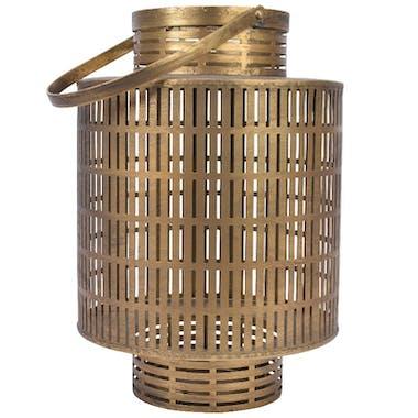 Lanterne ajourée en métal doré 31 cm