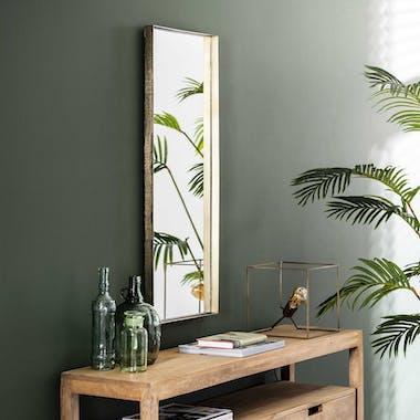 Miroir rectangulaire doré 40x100 NIAGARA