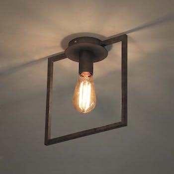 Plafonnier industriel cadre 1 lampe RALF