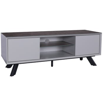 Meuble TV en verre gris clair OTTAWA