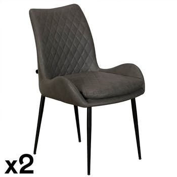 Chaise de table grise (lot de 2) VITTORIA