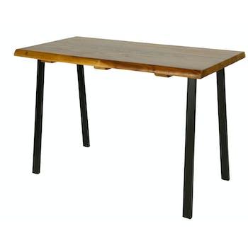 Table haute bois de suar métal HAWAI