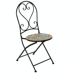 Chaise de jardin carreaux de ciment mix couleurs GRENADE (lot de 2)