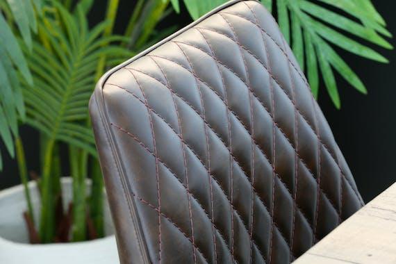 Chaise industrielle marron (lot de 2) SALERNE