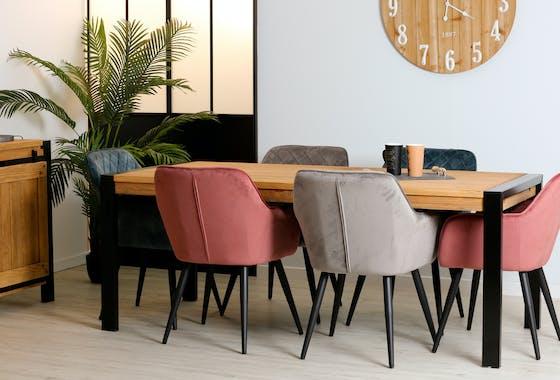 Table à manger rectangulaire bois de pin massif 200 LOUNDGE