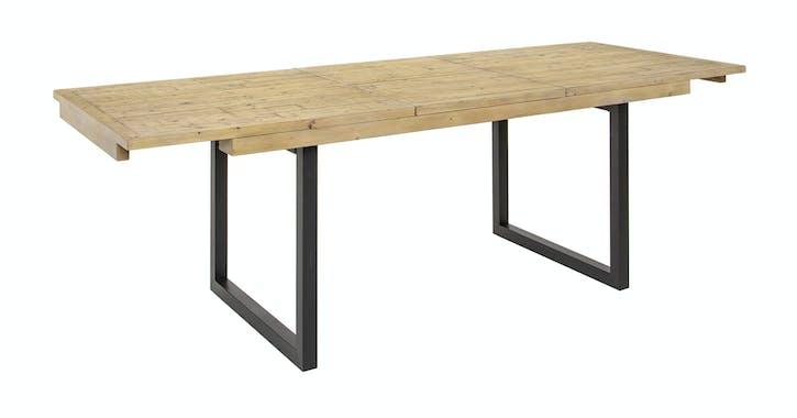 Table de salle à manger extensible en bois recyclé 140-180 cm AUCKLAND