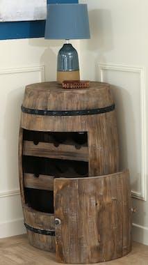 Tonneau range-bouteilles avec porte
