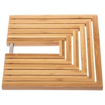 Dessous de plat extensible en bambou