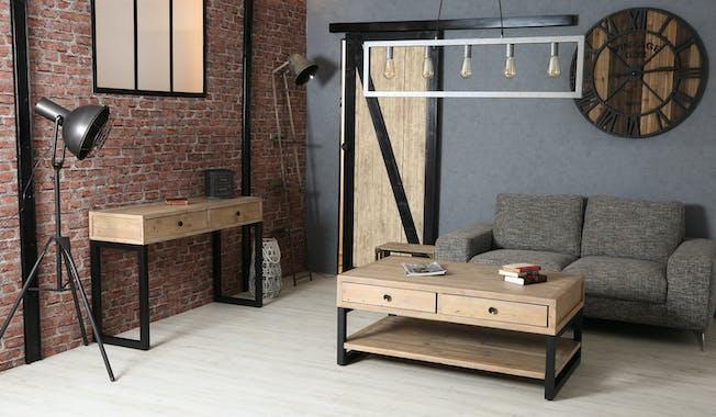 Table basse avec rangement en bois recyclé AUCKLAND