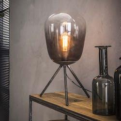 Lampe en verre chromé et métal RALF