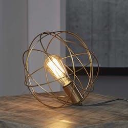 Lampe boule filaire métal finition bronze RALF