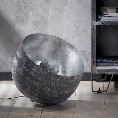 Lampe à poser contemporaine cloche grise GM