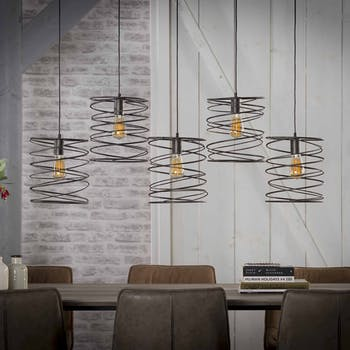 Suspension 5 lampes tourbillon