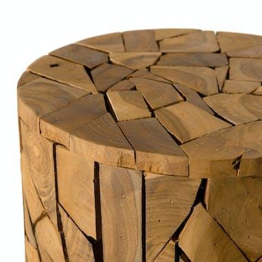Sellette bois ronde mosaïque de teck OTTAWA