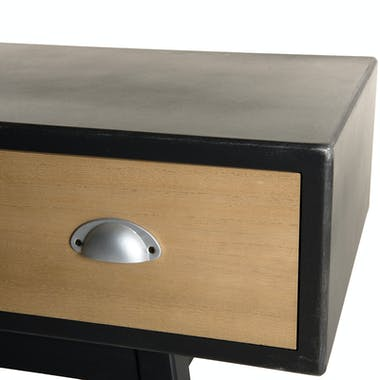 Meuble tv 2 tiroirs patchwork 120 cm LEONARD
